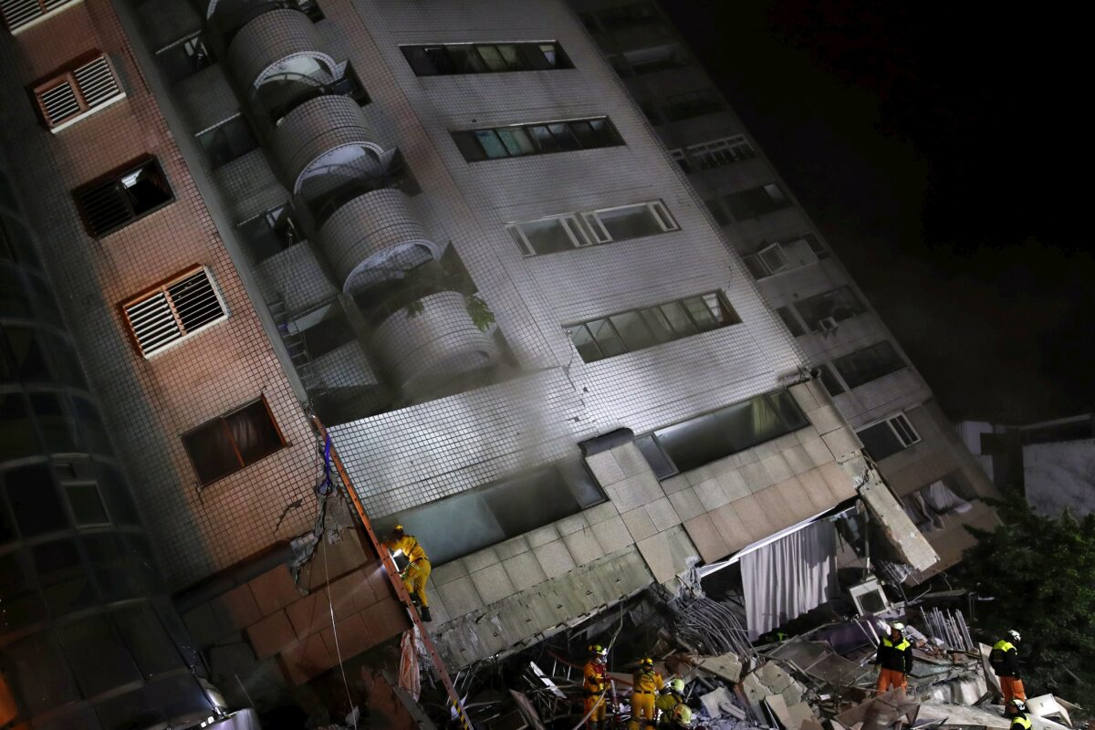 At leat two dead, nearly 200 injured after Magnitude 6 quake hit Hualien, eastern Taiwan
