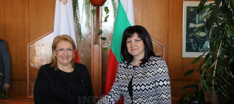 Karayancheva_Malta_President_sreshta_SNIMKA1