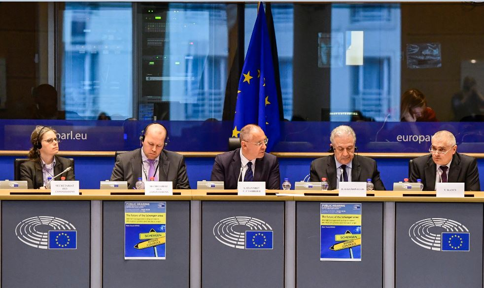 Schengen hearing panel Stanishev Radev Avramopoulos