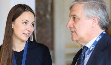 Eva Maydell and Antonio Tajani