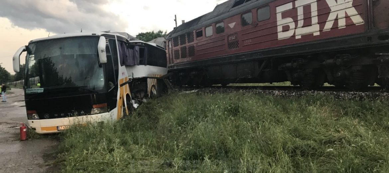 Катастрофа влак автобус