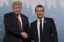 Доналд Тръмп и Еманюел Макрон, снимка: БГНЕС