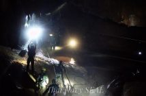 epa06866881 A handout photo made available by the Thai Navy SEAL on 06 July 2018 shows Thai military personnel carrying equipment inside a cave complex during the ongoing rescue operations for the youth soccer team and their assistant coach, at Tham Luang cave in Khun Nam Nang Non Forest Park, Chiang Rai province, Thailand. According to latest reports, a former Thai Navy diver has died during the rescue operations to safely bring out the youth soccer team out of the cave. Rescuers are bringing supplies and food into the cave, where the missing 12 boys and their coach remain trapped since 23 June, as efforts to drain the cave have not been successful due to rainy weather.  EPA/THAI NAVY SEAL HANDOUT  HANDOUT EDITORIAL USE ONLY/NO SALES