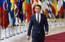 epa06847770 Austrian Chancellor Sebastian Kurz arrives for an European Council summit in Brussels, Belgium, 28 June 2018. EU countries' leaders meet on 28 and 29 June for a summit to discuss migration in general, the installation of asylum-seeker processing centers in northern Africa, and other security- and economy-related topics including Brexit.  EPA/NICOLAS LAMBERT
