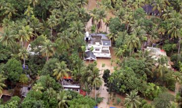 Floods after heavy rains in Kerala state, India