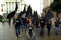 протест, хора с увреждания