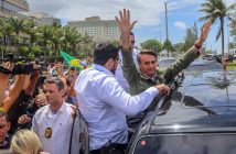 epa07127077 Brazilian far-right presidential candidate Jair Bolsonaro greets supporters after voting, in Rio de Janeiro, Brazil, 28 October 2018. Around 147 millions Brazilians are called to vote in the second round of the country's presidential elections, where far-right candidate Jair Bolsonaro is favorite to win in all surveys. Fernando Haddad of the Workers Party will face Jair Bolsonaro, of the Social Liberal Party (PSL) in the second round of voting.  EPA/FERNANDO MAIA