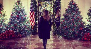 Мелания Тръмп представи коледната украса в Белия дом (галерия)