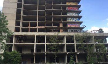 Изоставеният строеж до Александровска болница.  снимка: БТВ