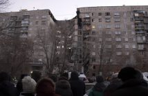 Gas explosion in an apartment building in Magnitogorsk