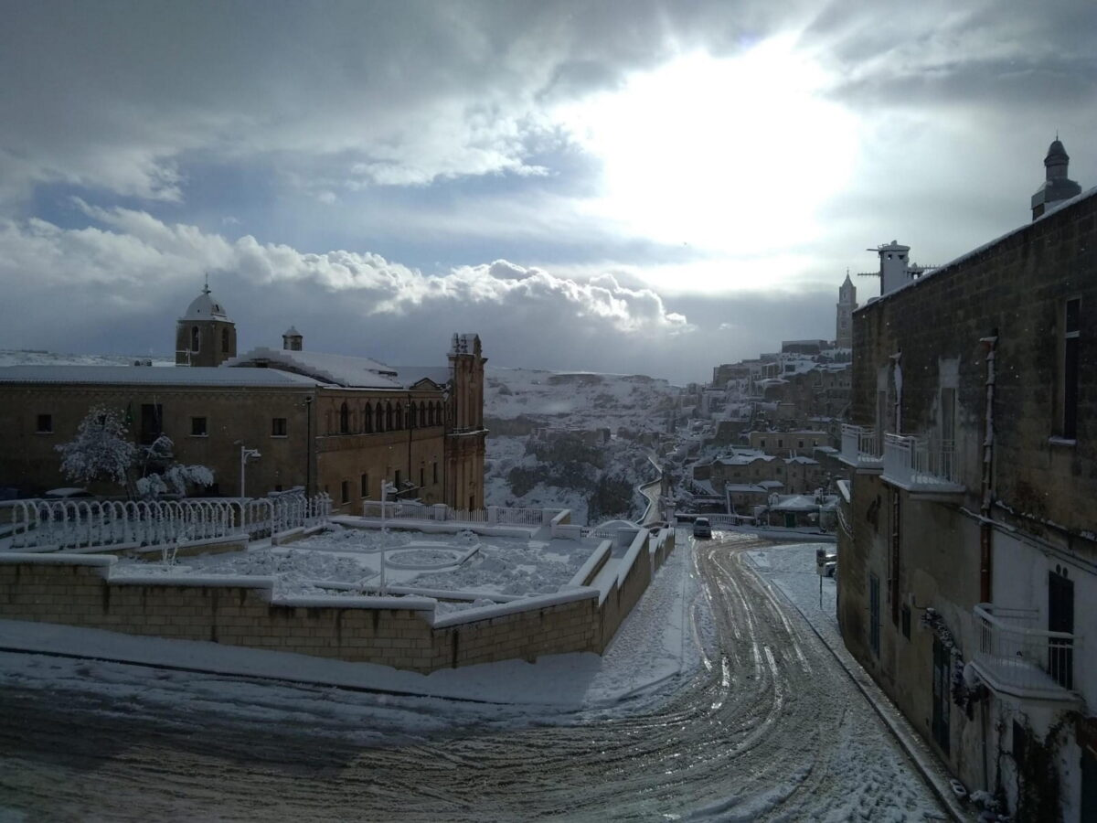 Below zero temperatures in southern Italy's region of Basilicata