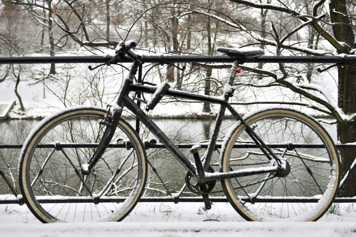 Winter weather in Wroclaw