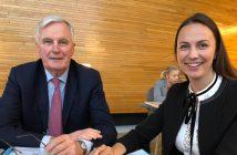 Eva Maydell Michel Barnier 2
