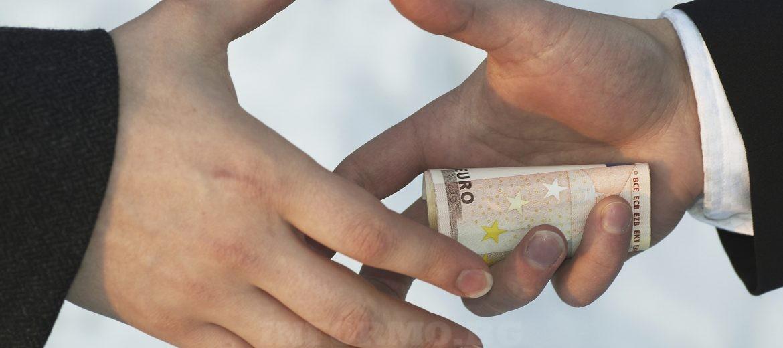 подкуп, пари