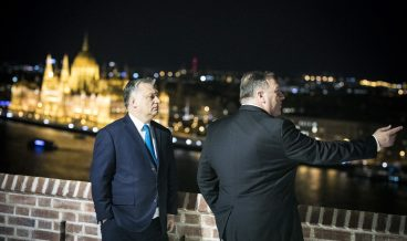 epa07362937 A handout photo made available by the Hungarian Prime Minister's Press Office showing Hungarian Prime Minister Viktor Orban (L) receives US Secretary of State Mike Pompeo in the Prime Minister's Residence in Budapest, Hungary, 11 February 2019. Pompeo is on an official visit to Hungary.  EPA/Balazs Szecsodi/Hungarian Prime Minister's Press Office/ HANDOUT HUNGARY OUT HANDOUT EDITORIAL USE ONLY/NO SALES