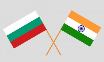 Bulgaria and India. Bulgarian and Indian flags. Official colors. Correct proportion. Vector illustration