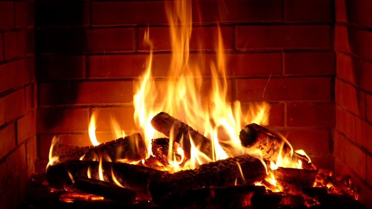 печка, камина, огън