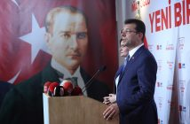 epa07476474 Candidate of main opposition Republican People's Party (CHP), for Istanbul mayor Ekrem Imamoglu speaks during a press conference Istanbul, Turkey, 31 March 2019. Some 57 milion people will vote in local elections in Turkey's capital and the country's overall 81 provinces.  EPA/ERDEM SAHIN