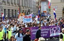 Walk for life rally against abortion in Zagreb