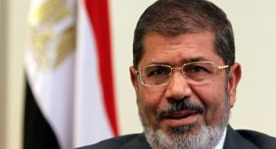 epa07654288 (FILE) - Egyptian President Mohamed Morsi during a meeting in Cairo, Egypt, 08 July 2012 (reissued 17 June 2019). Reports state Morsi died on 17 June 2019 during a trial session in an espionage case.  EPA/KHALED ELFIQI *** Local Caption *** 51087549