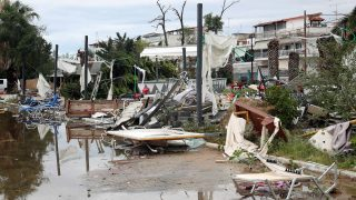 Six people, including two children, were killed after extreme weather conditions that struck Chalkidiki, north Greece