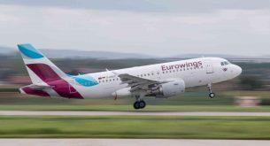 Авиокомпанията Eurowings съкращава 300 свои служители