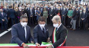 Президентът на Италия откри новия мост в Генуа (снимки)