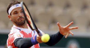 Григор Димитров се класира за полуфинал в Антверп, след като Милош Раонич се отказа